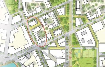 Übersichtsplan Bauplatz - mit markierung